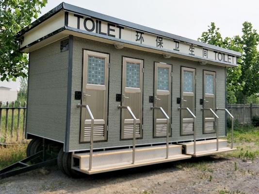车载式移动公厕安装实景